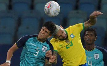 บราซิล โดน เอกวาดอร์ ไล่เจ๊า 1-1 ส่งท้ายรอบแบ่งกลุ่ม โคปา อเมริกา
